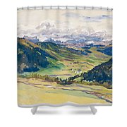 Open Valley. Dolomites Shower Curtain