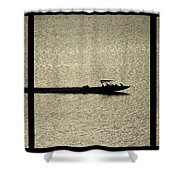 Open Waters Triptych Shower Curtain