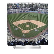 Opening Day Upper Deck Shower Curtain by Chris Tarpening