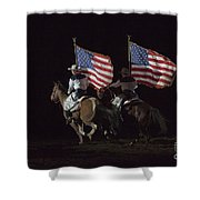 Opening Of Westernaires Ceremony Shower Curtain