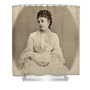 Opera Singer, 19th Century Shower Curtain