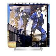 Derry Mural Operation Motorman  Shower Curtain