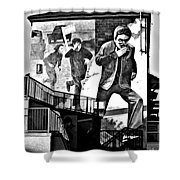 Operation Motorman Mural Shower Curtain