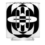 Opt Art 6 Shower Curtain