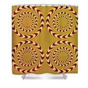 Optical Ilusions Summer Spin Shower Curtain