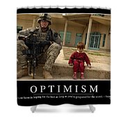 Optimism Inspirational Quote Shower Curtain by Stocktrek Images