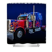 Optimus Prime Blue Shower Curtain