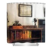 Optometrist - Eye Doctor's Office With Diploma Shower Curtain