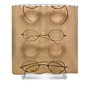 Optometrist - Simple Gold Frames Shower Curtain