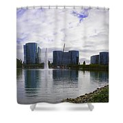 Oracle Buildings In Redwood City Ca Shower Curtain