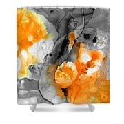 Orange Abstract Art - Iced Tangerine - By Sharon Cummings Shower Curtain