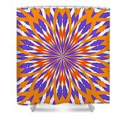 Orange And Purple Kaleidoscope Shower Curtain