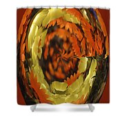 Orange And Yellow Fantasy Shower Curtain