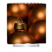 Orange Baubles Shower Curtain by Anne Gilbert