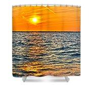 Orange Burn Shower Curtain