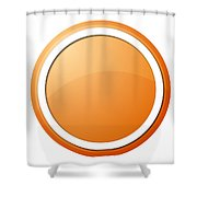 Orange Button Shower Curtain