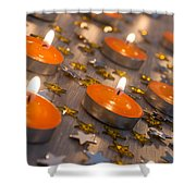 Orange Candles Shower Curtain
