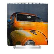 Orange Car Shower Curtain