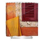 Orange Cloth  Shower Curtain