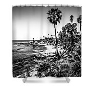 Orange County California In Black And White Shower Curtain