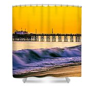 Orange County Panoramic Sunset Picture Shower Curtain