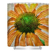 Orange Crackle Shower Curtain