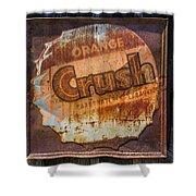 Orange Crush Sign Shower Curtain