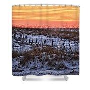 Orange Dawn Shower Curtain