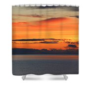 Orange Dawn Rising Shower Curtain