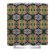 Orange Day Lily Design Shower Curtain