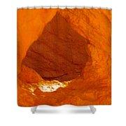 Orange Door Shower Curtain