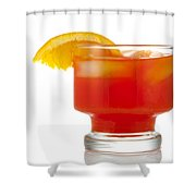 Orange Drink Shower Curtain