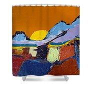 Orange Evening Shower Curtain