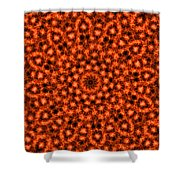 Orange Floral Abstract Shower Curtain