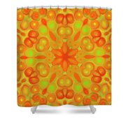 Orange Flower Mandela Shower Curtain