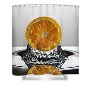Orange Freshsplash Shower Curtain