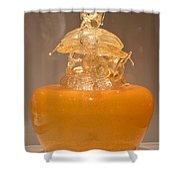 Orange Glass Sculpture Shower Curtain