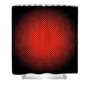 Optical Illusion - Orange On Black Shower Curtain