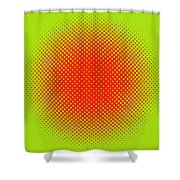 Optical Illusion - Orange On Lime Shower Curtain