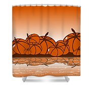 Orange Harvest Shower Curtain