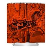 Orange Horse Shower Curtain