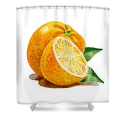 Orange Shower Curtain by Irina Sztukowski