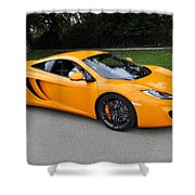 Orange Mclaren Mp4-12c Shower Curtain