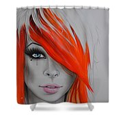 Orange Nectar Shower Curtain