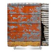 Orange Paint Shower Curtain