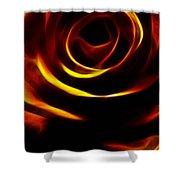 Orange Passion Rose Shower Curtain