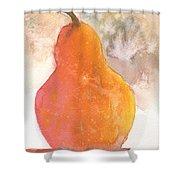 Orange Pear Shower Curtain