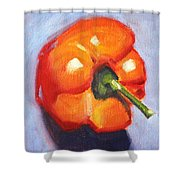 Orange Pepper Still Life Shower Curtain
