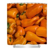 Orange Peppers Shower Curtain