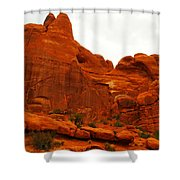 Orange Rock Shower Curtain